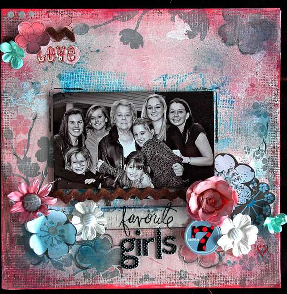 Favorite 7 Girls published Scrapbooking and beyond Summer 2010