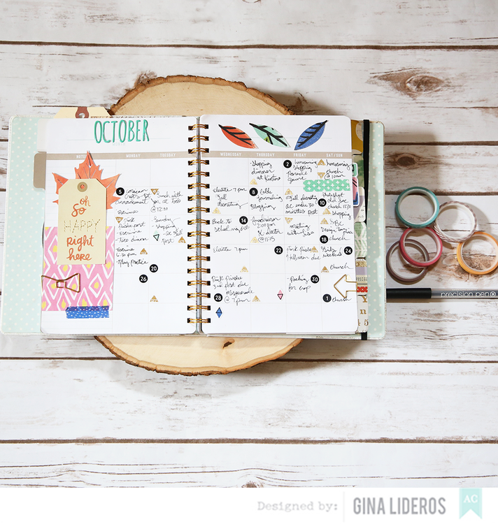 October Planner page