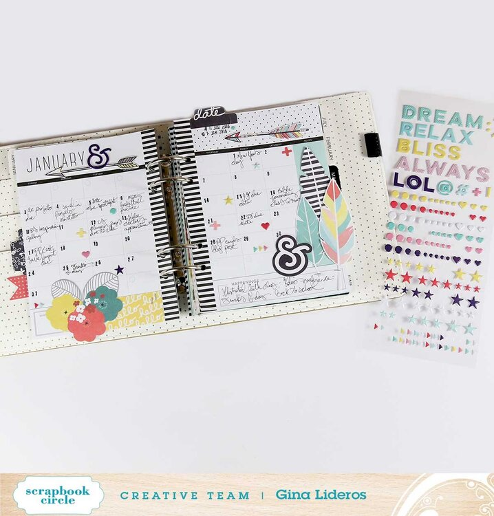 January Planner Page