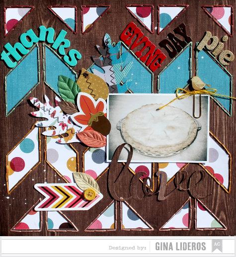 Thanksgiving Day Pie *American Crafts DT