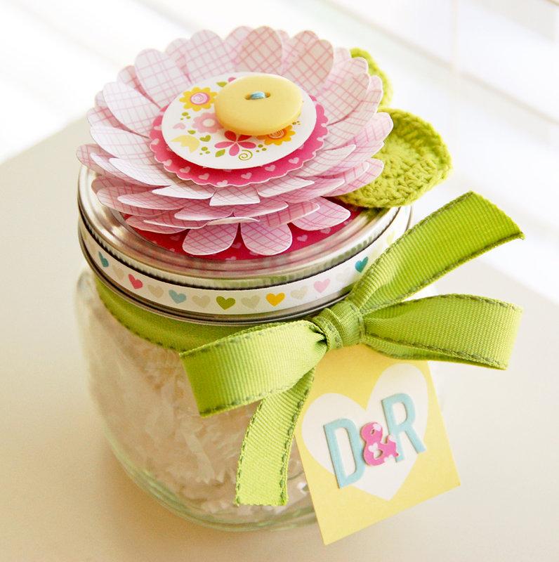 Flower Favor Jar  **Bella Blvd**