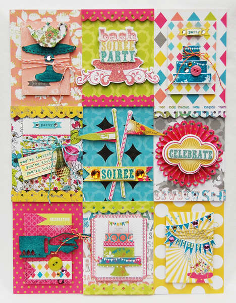 Soiree collage  **NEW Pink Paislee**