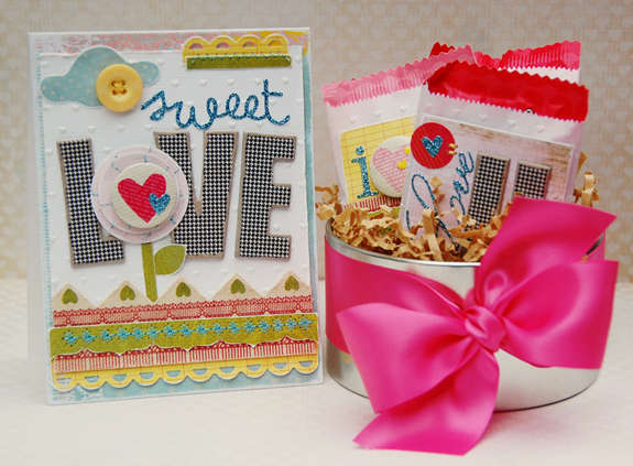 sweet love  card and candy bags  **Pink Paislee**