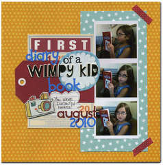 first diary of a wimpy kid book