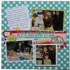 kindergartner at work