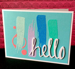 Hello with Heat Embossing