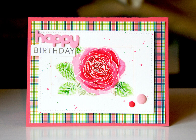 Happy Birthday, Colorburst Watercolors