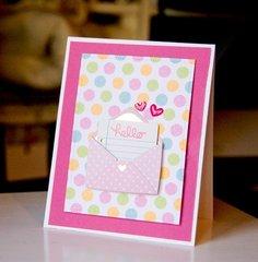 Hello - Pink Polka Dots