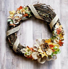 Amber Moon Fall Wreath