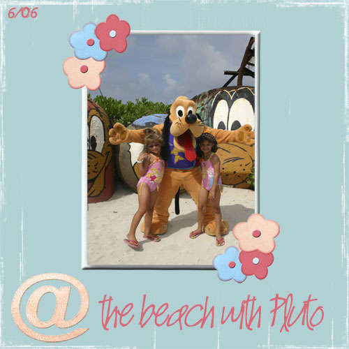@ the beach with Pluto