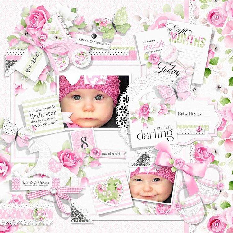 Baby Girl Milestone Layout