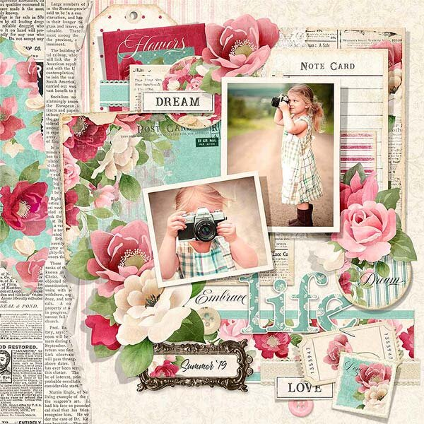 Vintage Floral Layout Idea for So Many Occasions