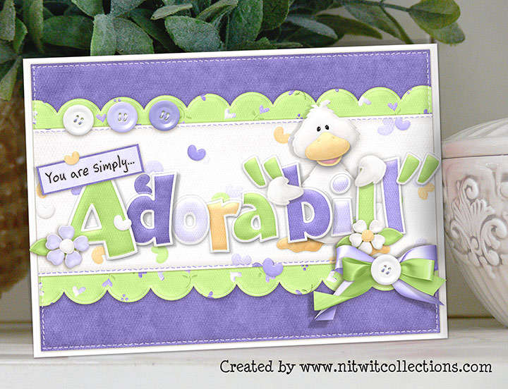 Greeting Card - Just Ducky