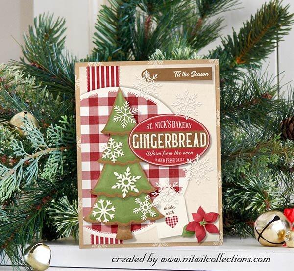 Vintage Christmas Gingerbread Card