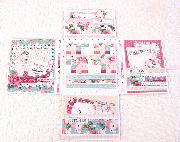 Quilt and Sewing Themed Mini Album