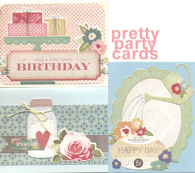 pretty party cards