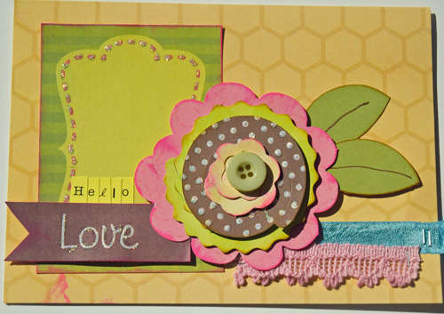 Hello Love Card {My Little Shoebox}