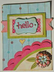 Hello Card {My Little Shoebox}