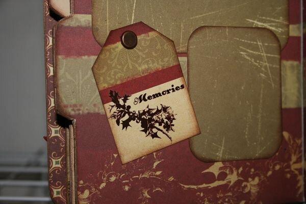 *Happy Holidays* Cosmo Cricket/Maya Road Album pgs 8 & 9 Close up of ta