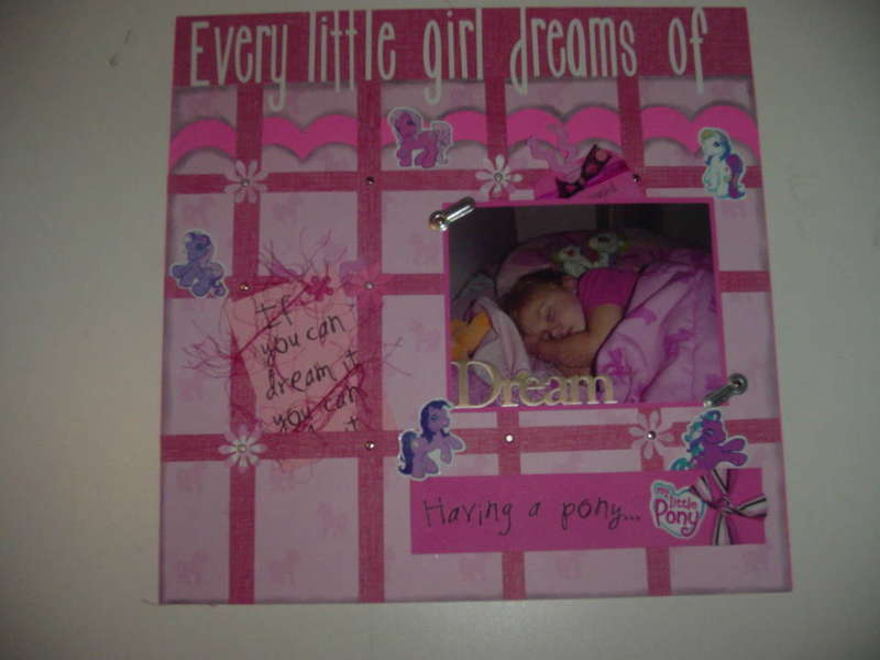 Every Little Girl... (Memory Board Page)