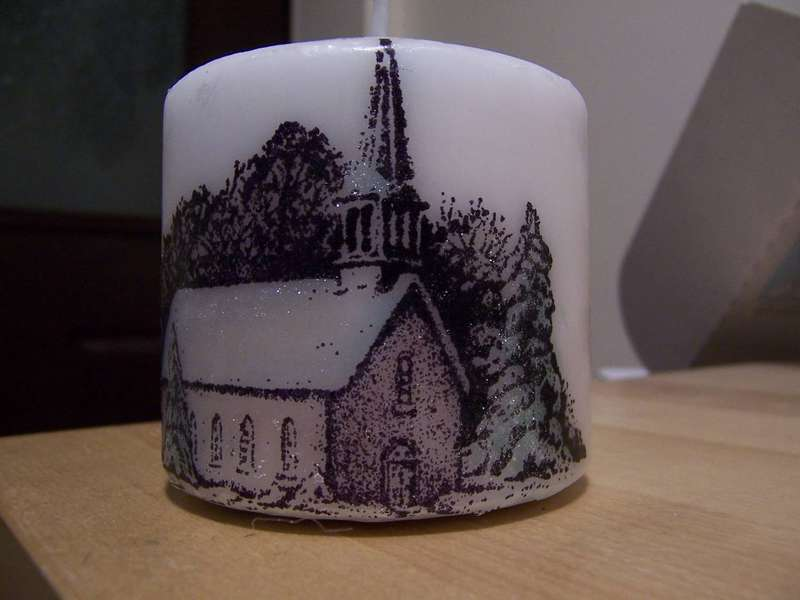 Stamped Candle
