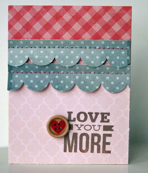 Love you More card  **Studio Calico City of Lights kit**