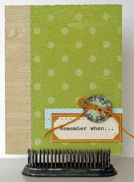Remember When card  **Studio Calico 35MM kit**