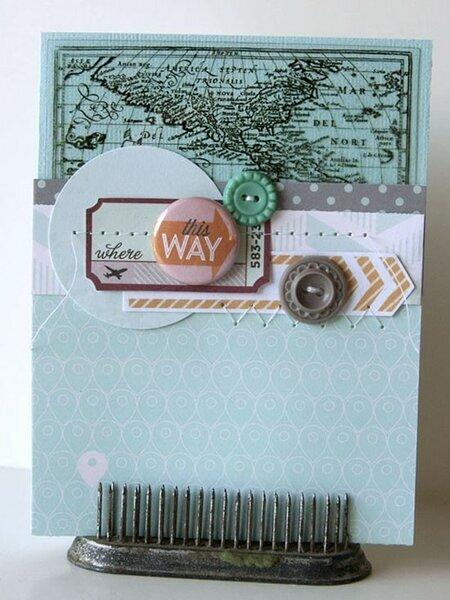This Way Card  **Gossamer Blue August kit**