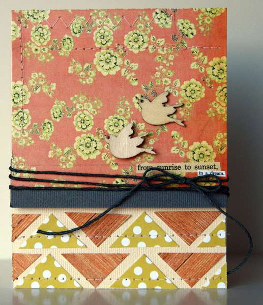 from sunrise to sunset Card  **Studio Calico Take Note**