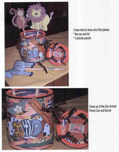 Challenge III - Zoo Pencil Holder