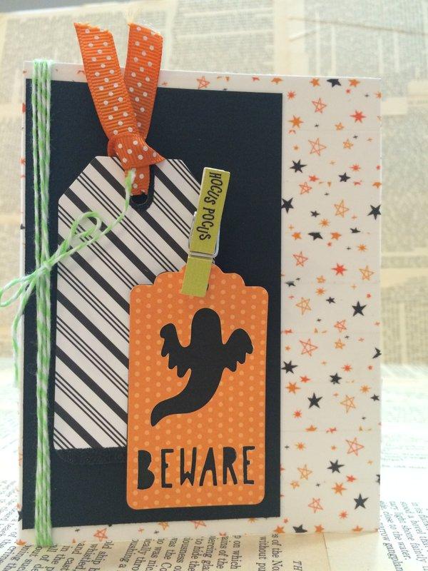 American Crafts Halloween card