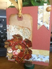 WeR Memory Keepers Indian Summer card and envelope