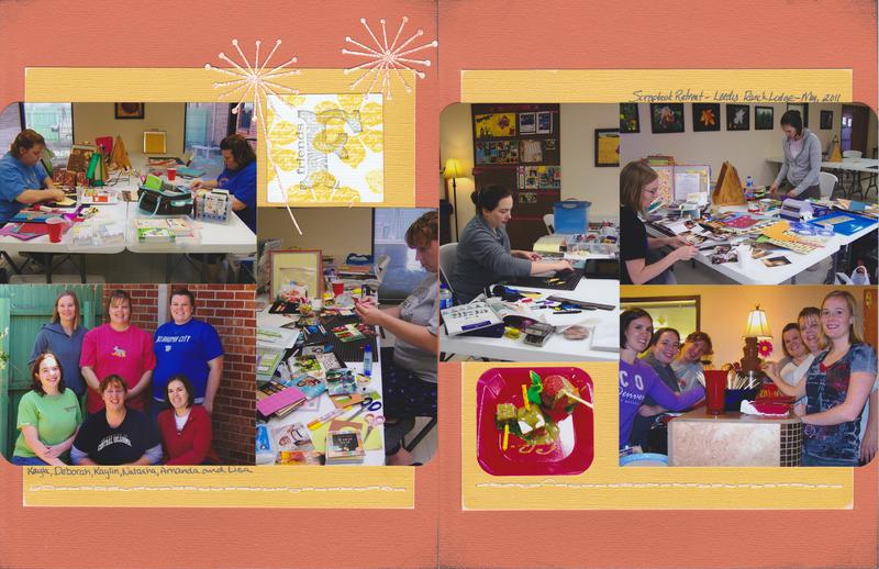 "Vol 14 Pg3-4 ""Friends"" Scrapbooking Retreat"