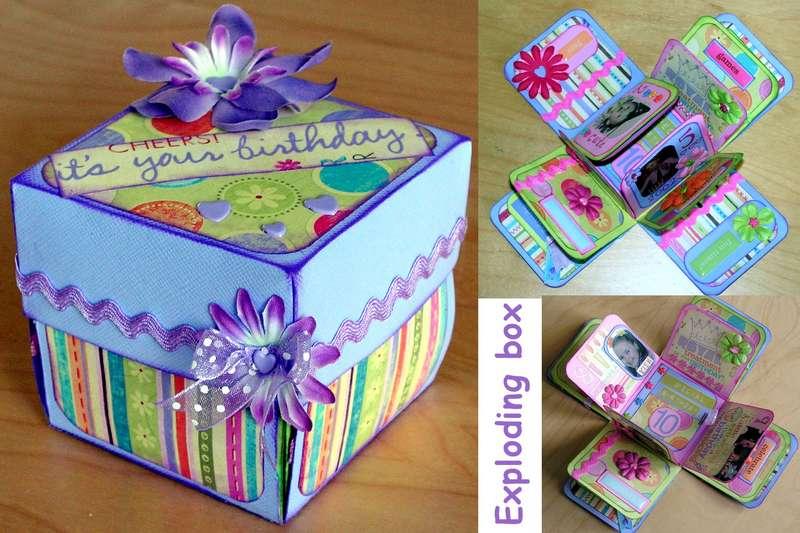 Exploding Birthday Box