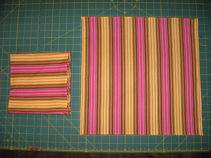 Cloth napkins w/mitered corners