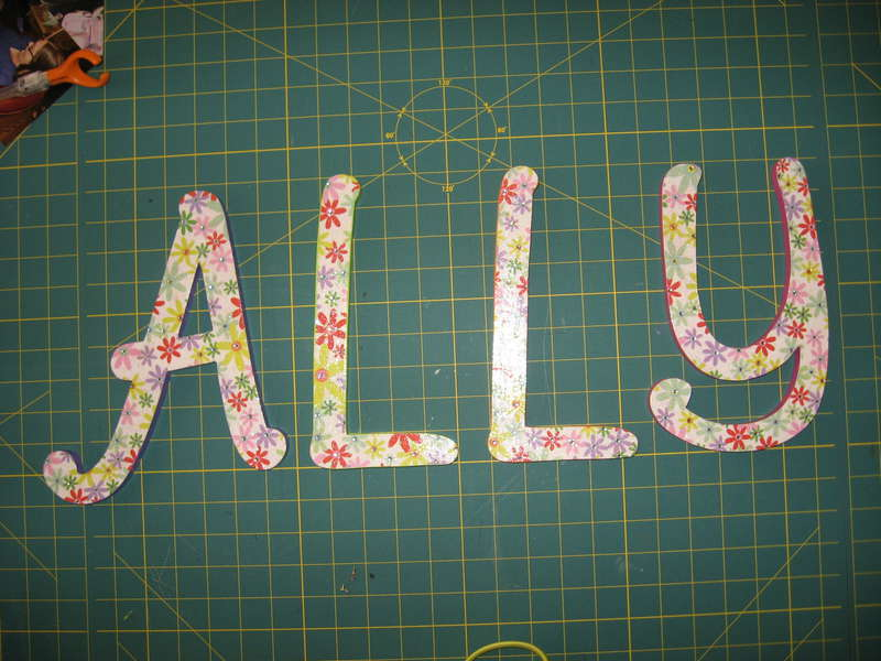 ALLY's letters for her wall