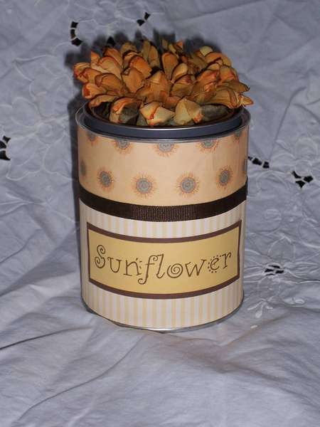 Sunflower Paint Can