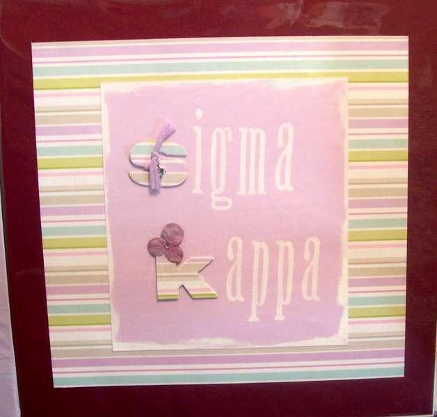 Sigma Kappa title page