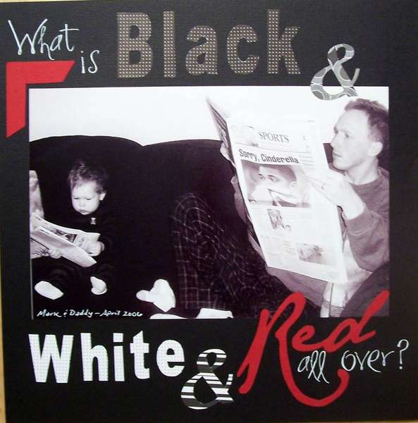 What is Black & White & Red all over?