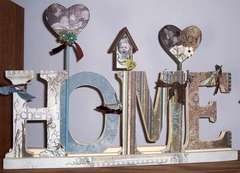 Home (Altered wooden letters)