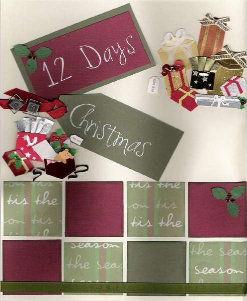 12 Days of Christmas page1- Holiday CJ entry