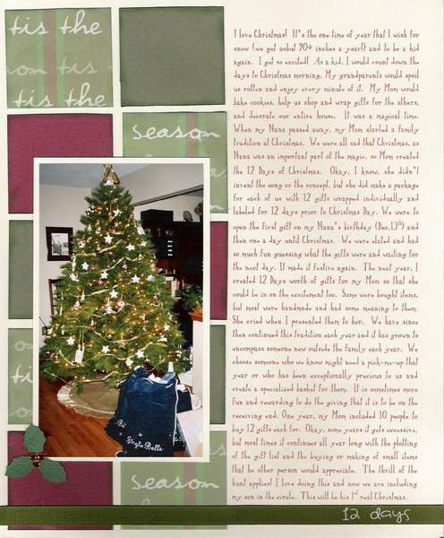 12 Days of Christmas page2 - Holiday CJ