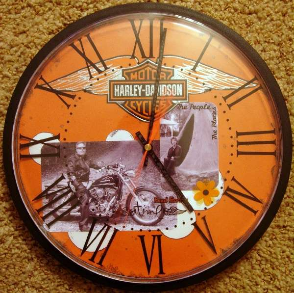 Harley Davidson Altered Wall Clock