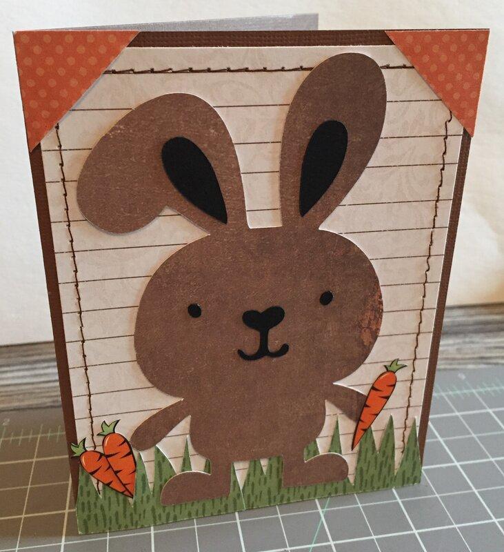 Cricut Easter Bunny card