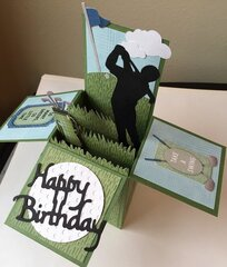 Golf Birthday Box Card