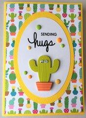 Sending Hugs cactus card
