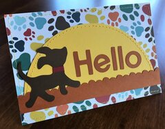 Hello card with dog