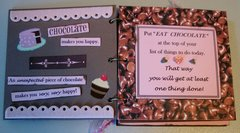 Chocolate Mini Quote Booklet/Birthday Card Pgs 4-5