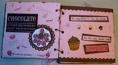 Chocolate Mini Quote Booklet/Birthday Card Pgs 8-9