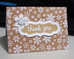 Wintry Thank You Card
